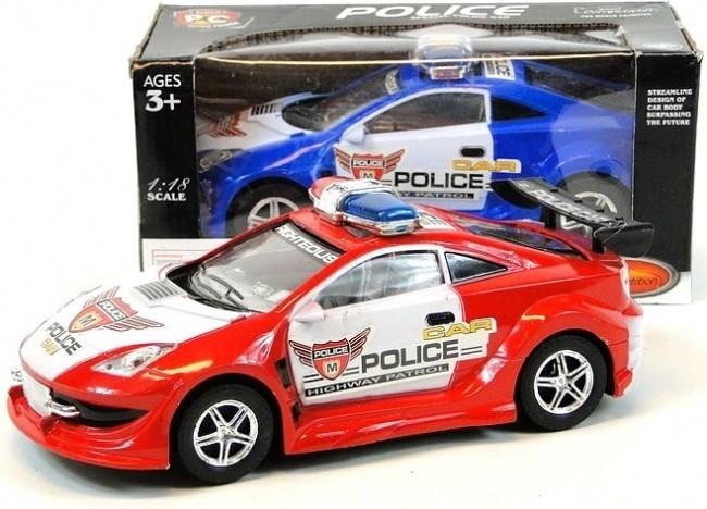 Policejní auto na baterie 25 cm - červená