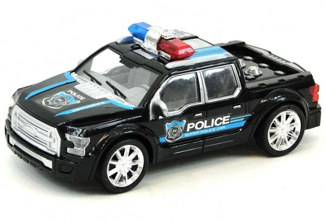 Policejní auto na setrvačník - černá
