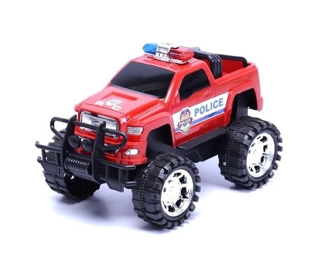Policejní terénní auto Jeep - červená