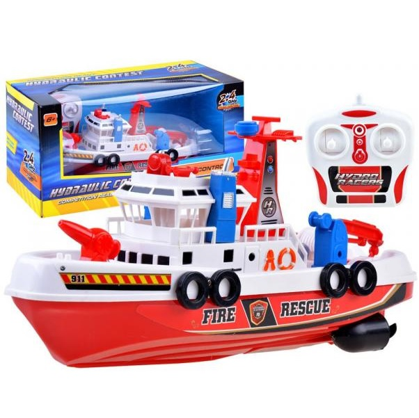 Požiarnická loď na dálkové ovládání