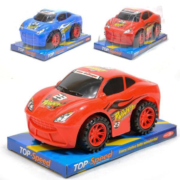 Závodní auto na setrvačník 19 cm - červená