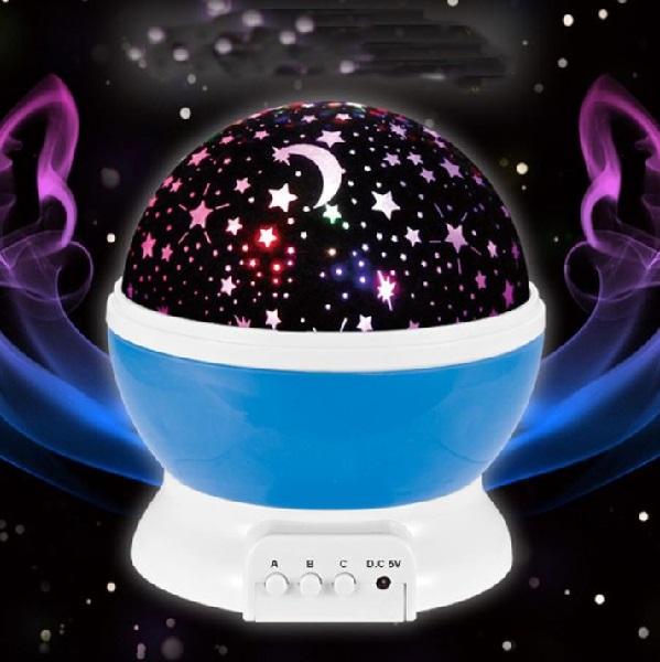 Projektor noční oblohy - deluxe - fialová