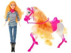 Panenka s koníkem s dlouhou hřívou