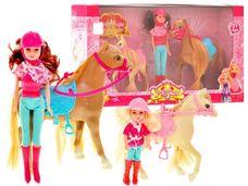 Panenky jezdkyně s koníky