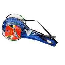 Badmintonové rakety kovové v pouzdře