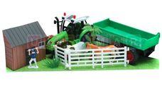 Dětská farma s 2 zvířátky a traktorem