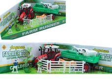 Dětská farma s 3 zvířátky a traktorem