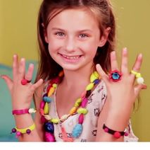 Dětské barevné korálky