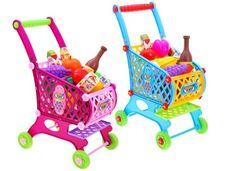 Dětský nákupní vozík s potravinami