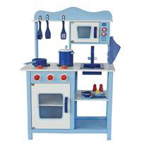 Dřevěná kuchyňka Classic modrá