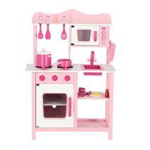 Dřevěná kuchyňka Classic růžová