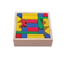 Dřevěné kostky 50 ks barevné