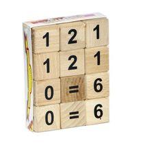Dřevěné kostky s číslicemi