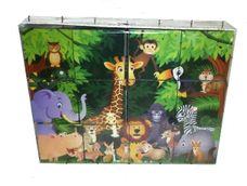 Obrázkové kostky - zvířata z džungle