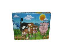Obrázkové kostky - zvířata z farmy