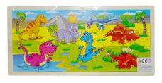 Dřevěné puzzle Dinosauři