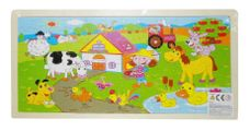Dřevěné puzzle Farma