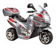 Elektrická sportovní motorka stříbrná