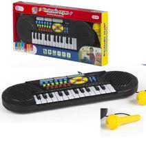 Elektronický klavír s mikrofonem