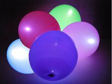 Barevné balóny s LED osvětlením - 5 ks