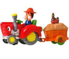 Farmářský traktor s přívěsem
