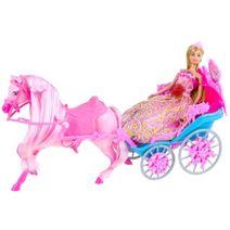Kočár s koníkem + panenka
