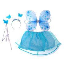 Kostým motýlí víla s křídly modrý