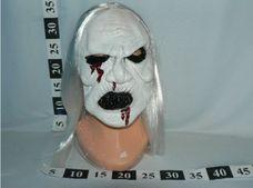 Maska gumová bílá s vlasy