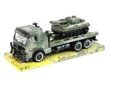 Nákladní vojenské auto s tankem