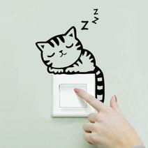 Nálepka na vypínač Kotě