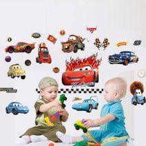 Nálepky na stěnu - auta Cars - akce - pomačkaný okraj