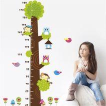 Nálepky na zeď - strom s metrem