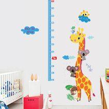 Nálepky na zeď - žirafa s metrem