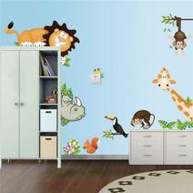 Nálepky na stěnu zvířátka ze safari