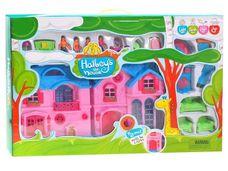 Okouzlující domeček pro panenky s balkonem