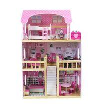 Bino Dřevěný domeček s nábytkem