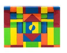 Pěnové kostky 46 ks barevné