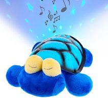 Plyšová želva s LED projektorem a hudbou