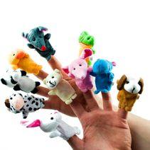 Plyšové loutky na prsty - zvířátka