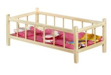 Postýlka pro panenky dřevěná 60 cm