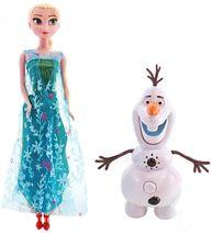 Princezny Elsa a Anna se zpívajícím Olafem