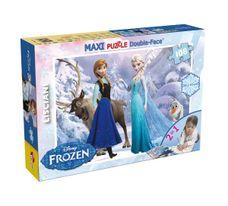 Puzzle Frozen 108 dílny s omalovánky