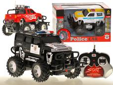 RC policejní terénní auto - akce: popukání fólie na krabici.