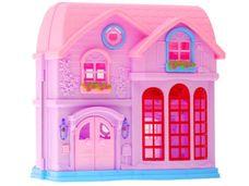 Růžový domeček pro panenky