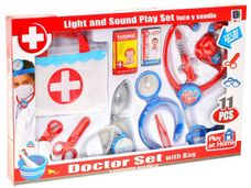 Sada malý lékař se světlem