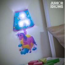 Nálepka na zeď s LED Jednorožec