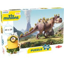 TACTIC Puzzle Mimoni 200 dílny - Mimoni a dinosaurus
