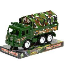 Vojenské nákladní auto - akce: popukání plastový obal