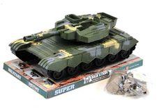 Vojenský tank na setrvačník