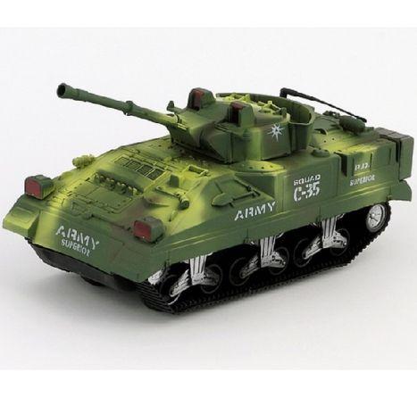 Bojový tank na setrvačník